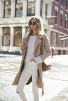 white on white with cashmere coat